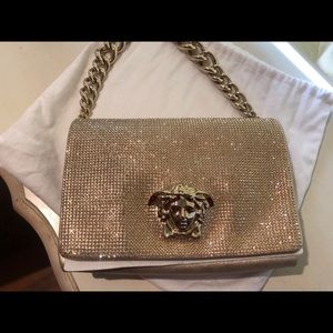 ba95817606d1 Versace Bags - Versace crystal Medusa evening sultan bag